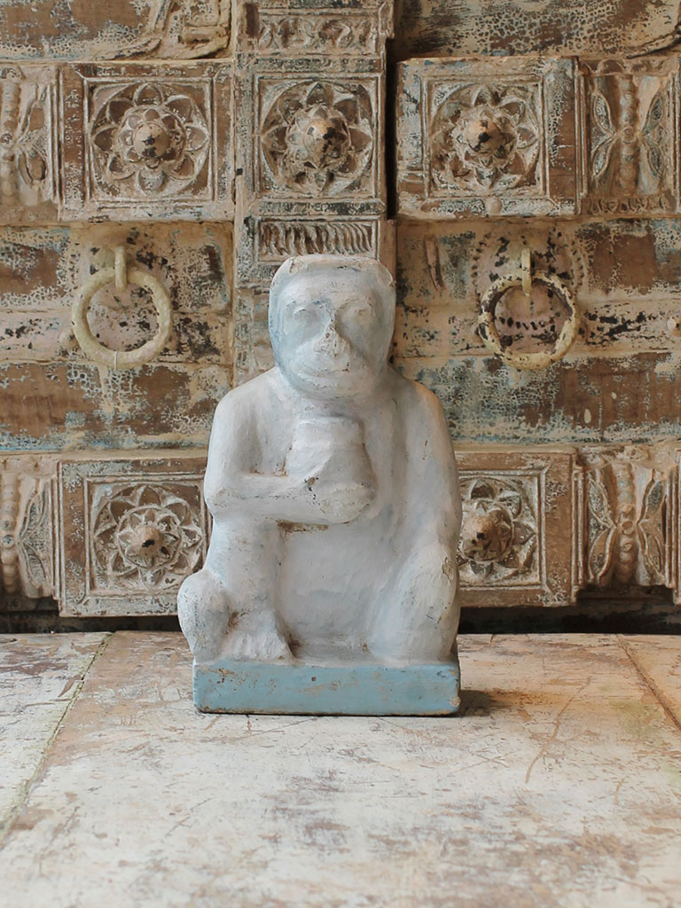 Architectural old stone carving of a monkey sold