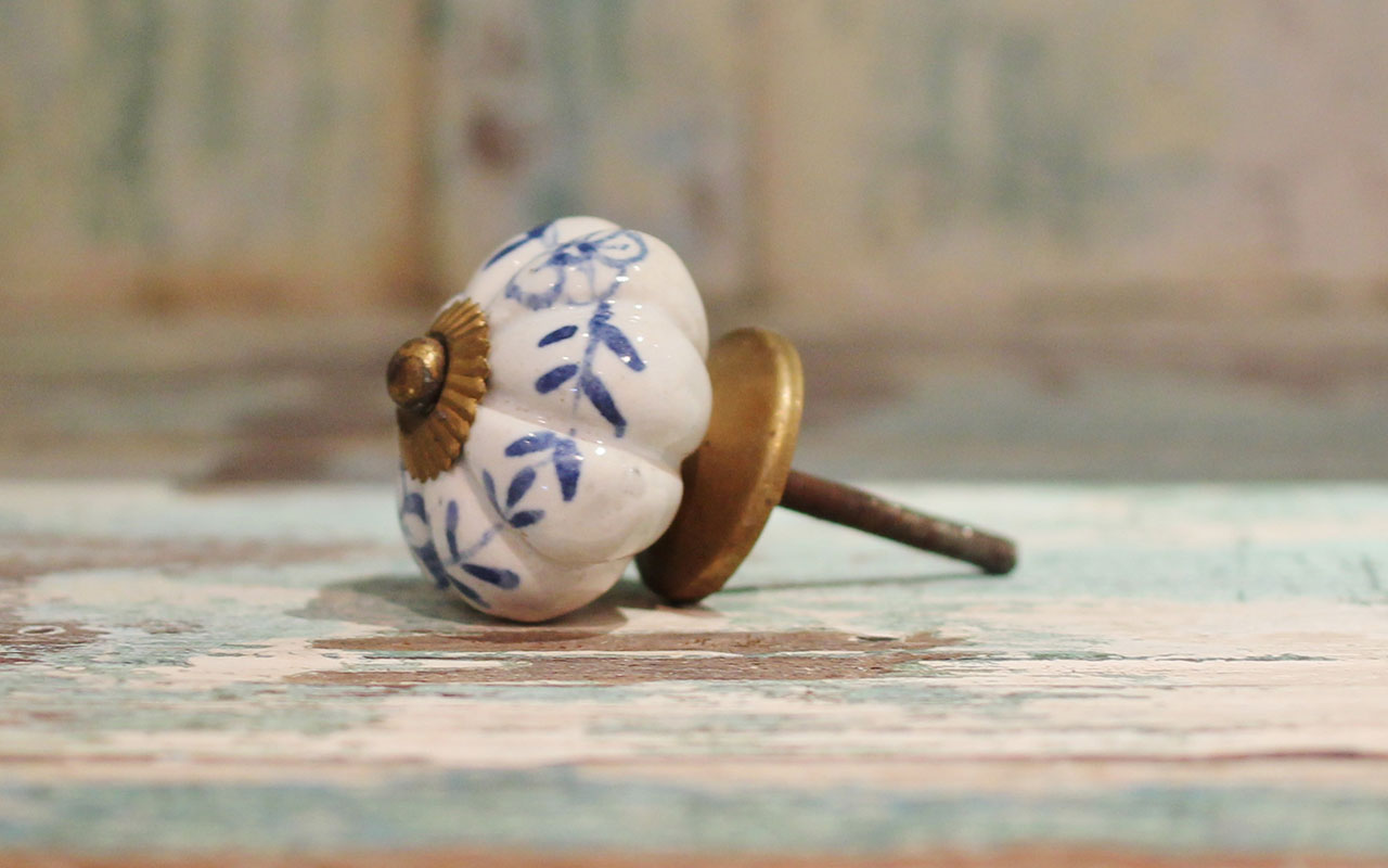Porcelain Door Knobs Blue Out of Stock