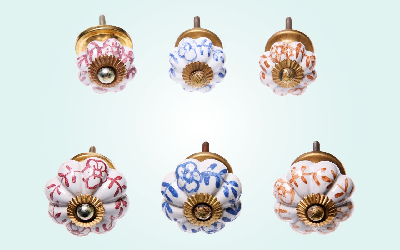 Painted Porcelain Door Knobs - Price from 3