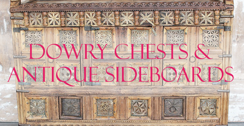 Indian Dowry Chests, Antique Sideboards from Opium