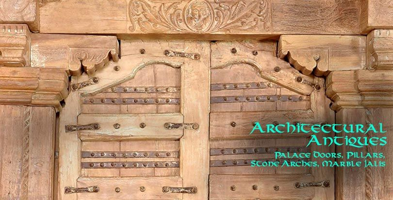 Architectural Antiques from Opium - palace doors, pillars, stone arches and marble jalis