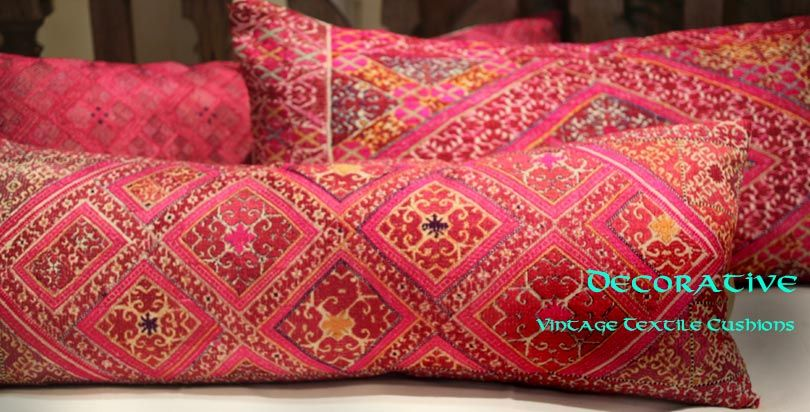 Indian Decorative Pieces from Opium - vintage textile cushions