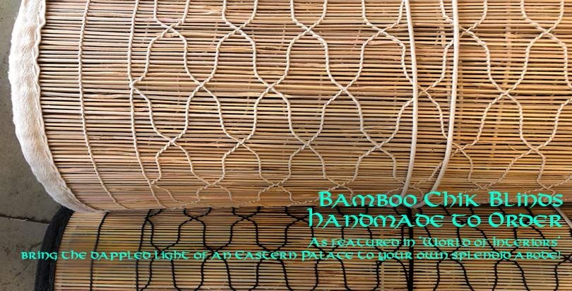 Bamboo Chik Blinds from Opium