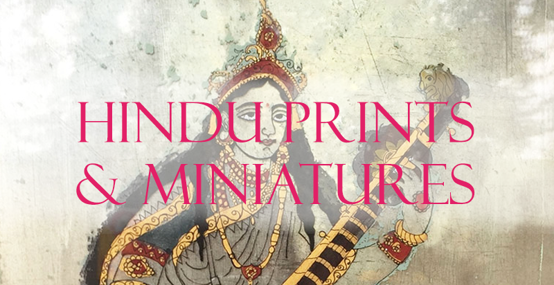 Hindu Deity Prints, Miniatures from Opium