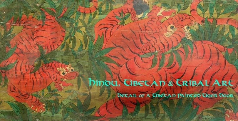 Hindu, Tibetan and Tribal Art from Opium - Tibetan painted tiger door