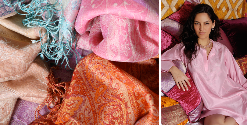 Indian Kaftans, Shawls and Bags from Opium
